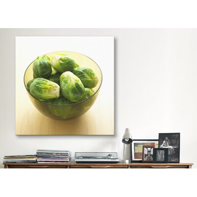 iCanvasArt Brussels Sprouts in Bowl Photographic Canvas Wall Art