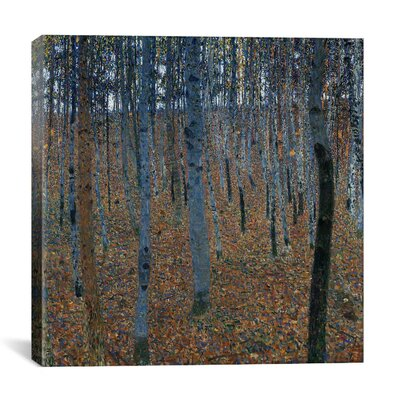 iCanvasArt 'Buchenwald 1 (Beech Grove 1)' by Gustav Klimt Painting Print on Canvas