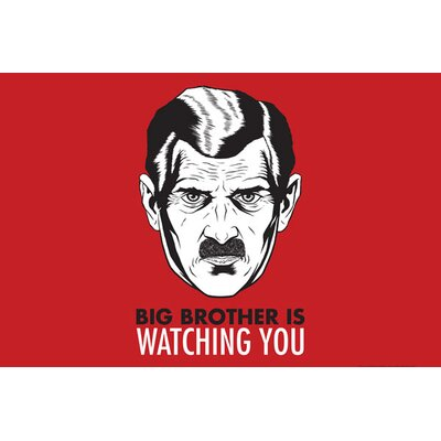 iCanvasArt Political Big Brother Is Watching You 1984 Vintage Advertisement on Canvas