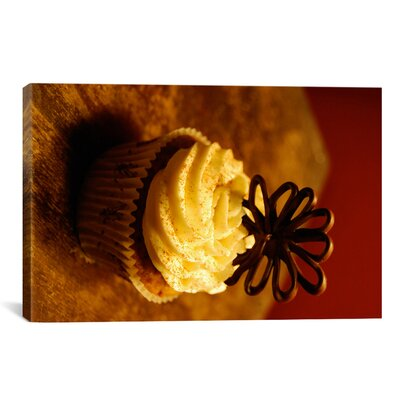 iCanvasArt Food and Cuisine Chocolate Cupcake Photographic Print on Canvas