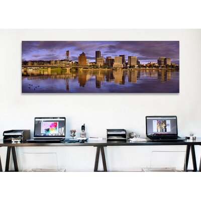 iCanvasArt Panoramic Buildings at the Waterfront, Portland, Oregon Photographic Print on Canvas