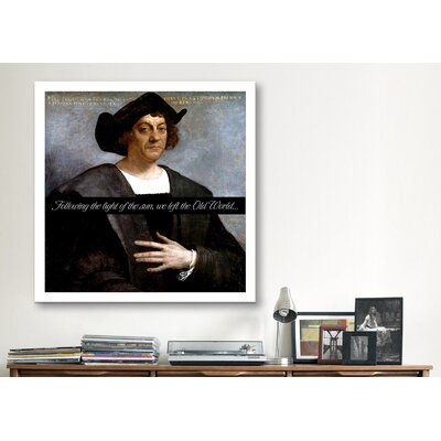 iCanvasArt Christopher Columbus Quote Canvas Wall Art
