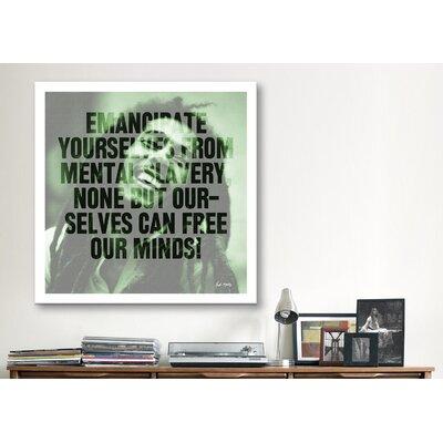 iCanvasArt Bob Marley Quote Canvas Wall Art