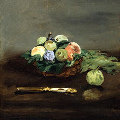 "iCanvasArt ""Basket of Fruit"" Canvas Wall Art by Edouard Manet"