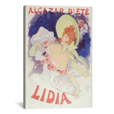 iCanvasArt 'Cafe Alcazar 'lidia'' by Jules Cheret Vintage Advertisement on Canvas