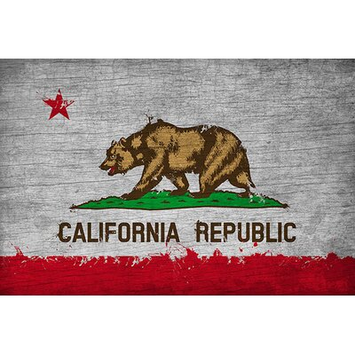iCanvasArt California Flag, Grunge Painted Graphic Art on Canvas