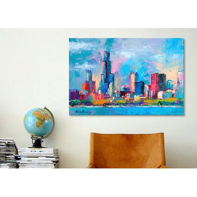 iCanvasArt 'Chicago 5' by Richard Wallich Painting Print on Canvas