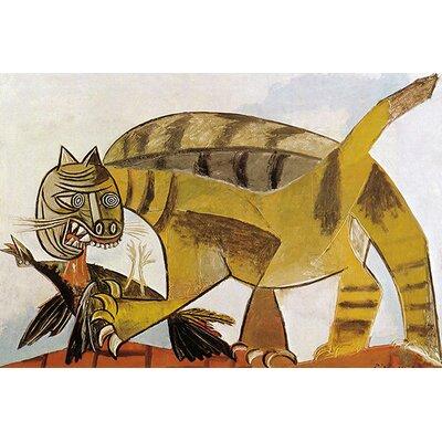 iCanvasArt 'Cat Devouring a Bird (Chat Saisissant un Oiseau)' by Pablo Picasso Painting Print on Canvas