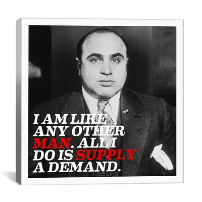iCanvasArt Al Capone Quote Canvas Wall Art