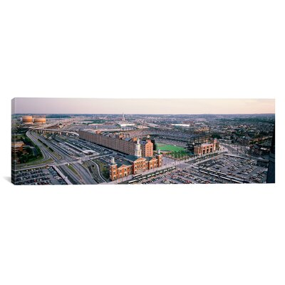 iCanvasArt Panoramic Aerial View of a Baseball Field, Baltimore, Maryland Photographic Print on Canvas