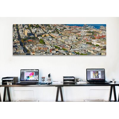 iCanvasArt Panoramic Aerial View of Columbus Avenue and Fisherman's Wharf, San Francisco Photographic Print on Canvas
