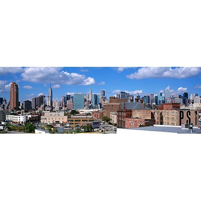iCanvasArt Panoramic Aerial View of an Urban City in Queens, New York Photographic Print on Canvas