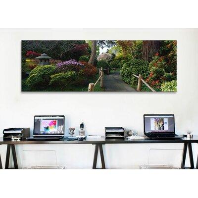iCanvasArt Panoramic Japanese Tea Garden, San Francisco, California Photographic Print on Canvas