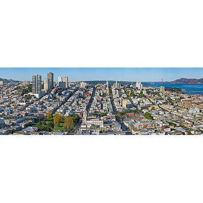 iCanvasArt Panoramic Coit Tower Telegraph Hill, San Francisco, California Photographic Print on Canvas