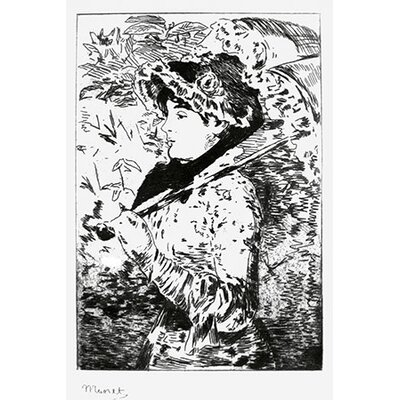 iCanvasArt 'Jeanne (Spring)' by Edouard Manet Painting Print on Canvas