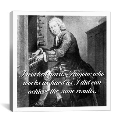 iCanvasArt Johannes Bach Quote Canvas Wall Art