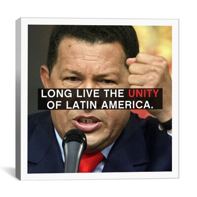 iCanvasArt Hugo Chavez Quote Canvas Wall Art