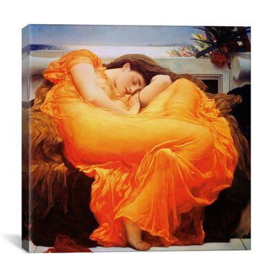iCanvasArt 'Flaming June Art' by Frederick Leighton Painting Print on Canvas
