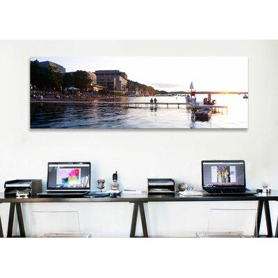 iCanvasArt Panoramic Lake Mendota, University of Wisconsin, Madison, Wisconsin Photographic Print on Canvas