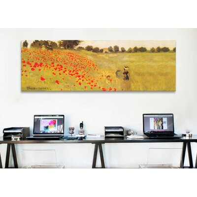 iCanvasArt 'Field of Poppies' by Claude Monet Painting Print on Canvas