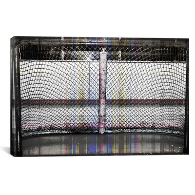 iCanvasArt Canada Hockey Goal Gate Photographic Print on Canvas