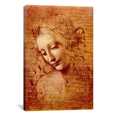iCanvasArt 'Female Head' by Leonardo da Vinci Painting Print on Canvas