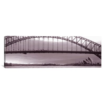 iCanvasArt Panoramic Harbor Bridge, Pacific Ocean, Sydney, Australia Photographic Print on Canvas