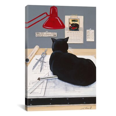 iCanvasArt 'Harold the Architectural Paperweight' by Jan Panico Painting Print on Canvas