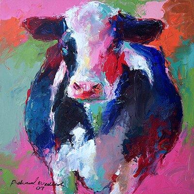 "iCanvasArt ""Cow II"" Canvas Wall Art by Richard Wallich"