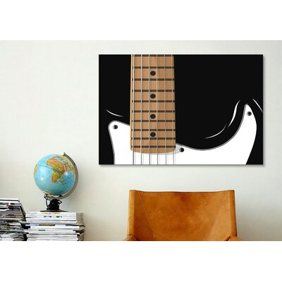iCanvasArt 'Electric Guitar' by Michael Tompsett Graphic Art on Canvas