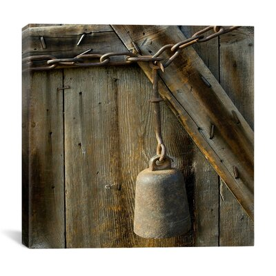"""iCanvasArt """"Cow Bell on a Link Chain"""" Canvas Wall Art by Harold Silverman - Msc"""