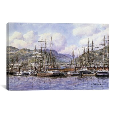 iCanvasArt 'Honolulu Harbor, California, 1898' by Stanton Manolakas Painting Print on Canvas