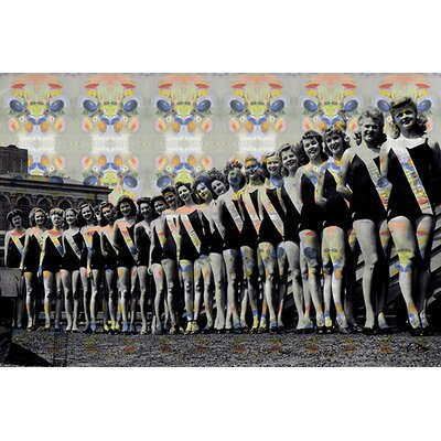 iCanvasArt Miss America Competition 1943 Lineup Panoramic Memorabilia on Canvas