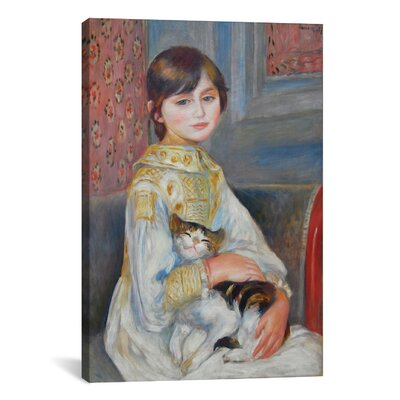 iCanvasArt 'Julie Manet with Cat 1887' by Pierre-Auguste Renoir Painting Print on Canvas