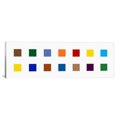 iCanvasArt Modern Colorful Squares Graphic Art on Canvas