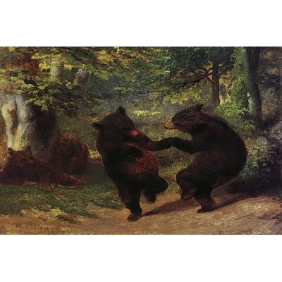 iCanvasArt Fine Art Dancing Bears Painting Print on Canvas
