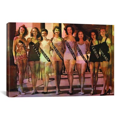 iCanvasArt Miss America Competition 1953 Swimsuits Memorabilia on Canvas