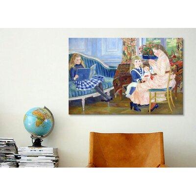 iCanvasArt 'Der Nachmittag der Kinder in Wargemont' by Pierre-Auguste Renoir Painting Print on Canvas