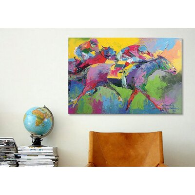 iCanvasArt 'Furlong' by Richard Wallich Painting Print on Canvas