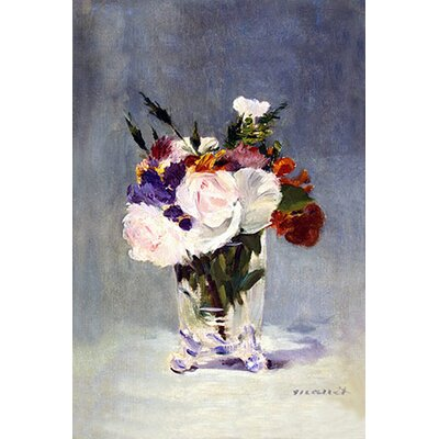 iCanvasArt 'Flowers in a Crystal Vase' by Edouard Manet Painting Print on Canvas
