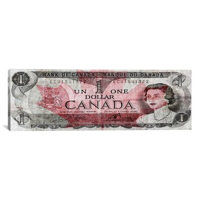 iCanvasArt One Canadian Dollar 2 Panoramic Graphic Art on Canvas