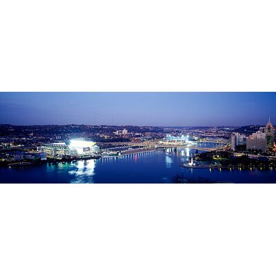 iCanvasArt Panoramic Pittsburgh Pennsylvania Photographic Print on Canvas
