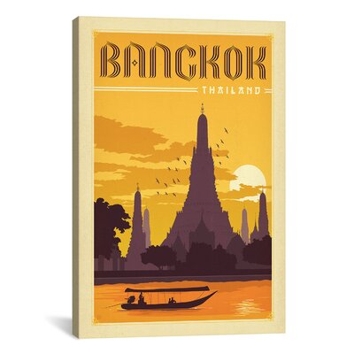 iCanvasArt Panoramic 'WT Bangkok' by Anderson Design Group Vintage Advertisement on Canvas