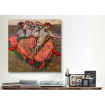 "iCanvasArt ""Russian Dancers"" Canvas Wall Art by Edgar Degas"