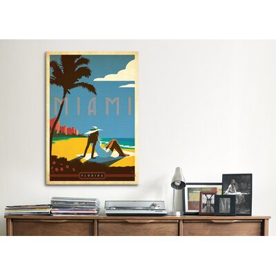 iCanvasArt 'Miami, Florida' by Anderson Design Group Vintage Advertisment on Canvas