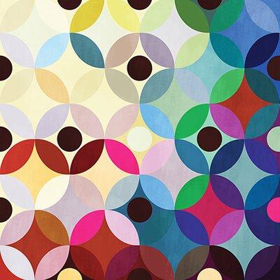 iCanvasArt Modern Art Mid Century Modern Circular Motion Graphic Art on Canvas