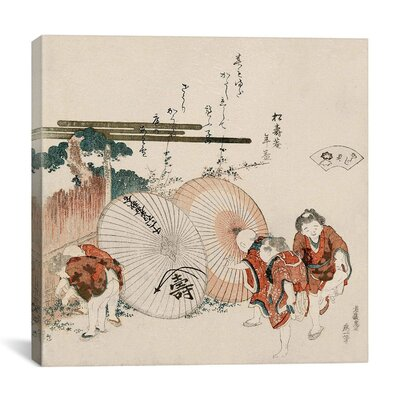 "iCanvasArt ""Lost-Love Shell (Katashigai)"" Canvas Wall Art by Katsushika Hokusai"