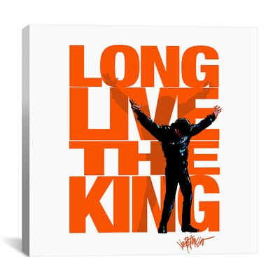 iCanvasArt Long Live the King (Elvis Presley) Canvas Wall Art
