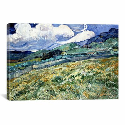 iCanvasArt 'Landscape at Saint-Remy' by Vincent Van Gogh Painting Print on Canvas