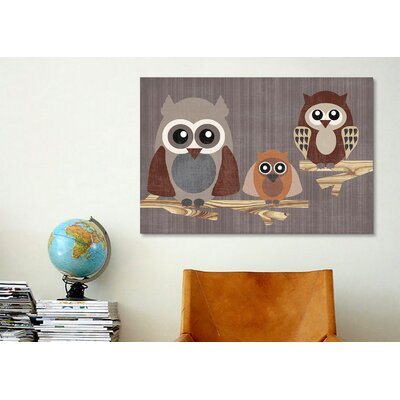 iCanvasArt 'Owls' by Erin Clark Graphic Art on Canvas